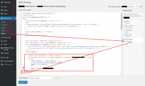 Adding Google Analytics tracking code to your WordPress website manually