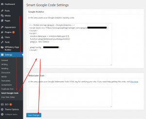 Adding Google Analytics tracking code using a WordPress plugin